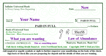 law of abundance check